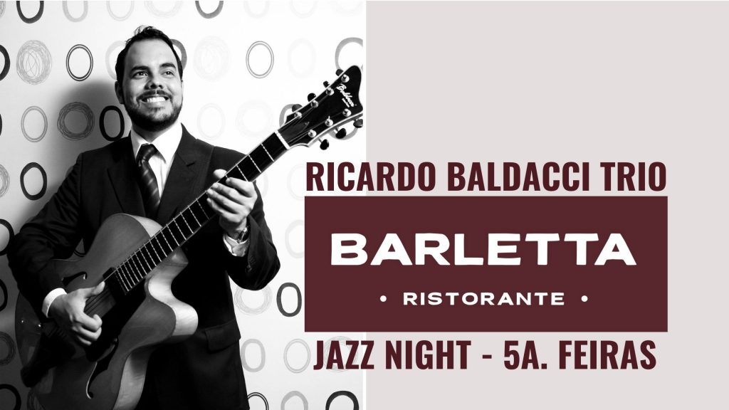 Trio de Jazz do canto-guitarrista, Ricardo Baldacci se apresenta às quintas-feiras